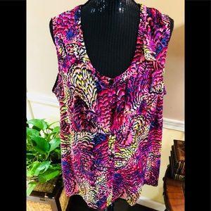 NWT Lane Bryant print blouse